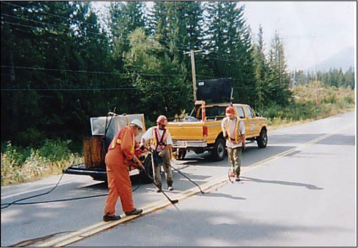 C-23 is the best crack filler for asphalt roads.  D & D Emulsions make environmentally friendly  road  maintenance products.