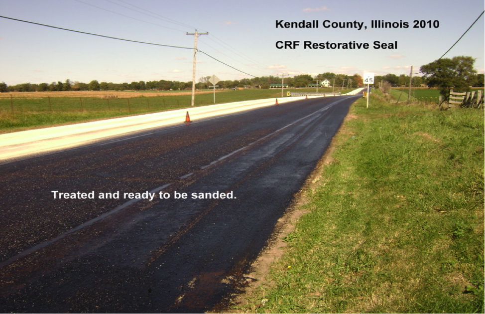 Restorative Seal road maintenance saves money.