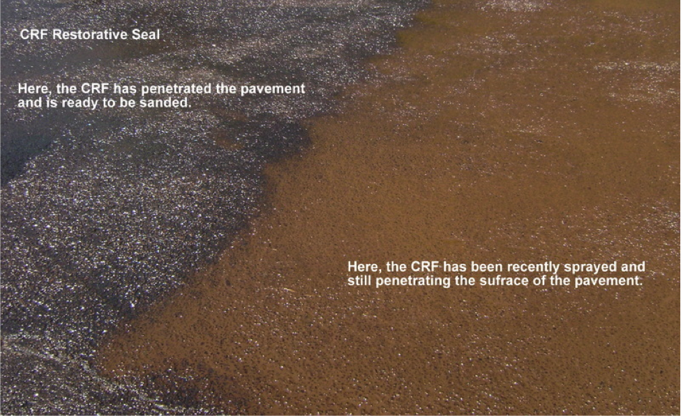 CRF Restorative Seal is an environmentally friend road maintenance.