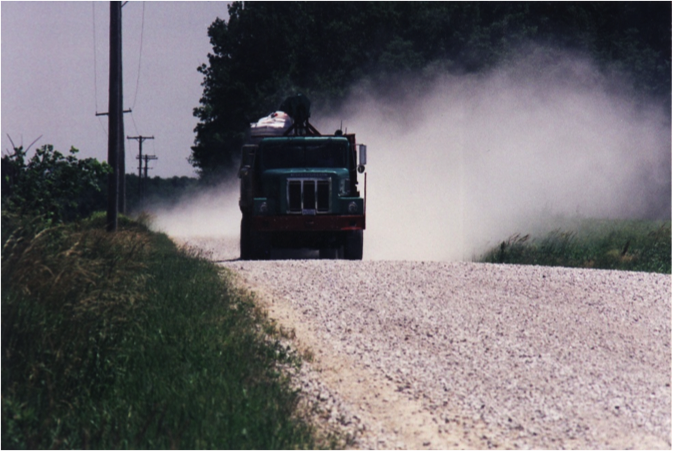 Use Dust Bond for road maintenance and dust control on dirt and gravel roads.
